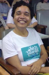 Nilda Pereira, no auditório